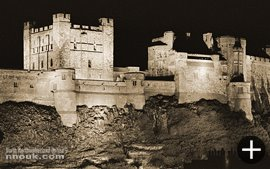 Bamburgh Castle was illuminated at night for a period in the late 1980s
