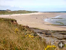 The beach north of Seahouses