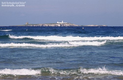 The Farne Islands seen from the beach