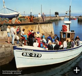 The 'Glad Tidings' boat arrives back in Seahouses harbour