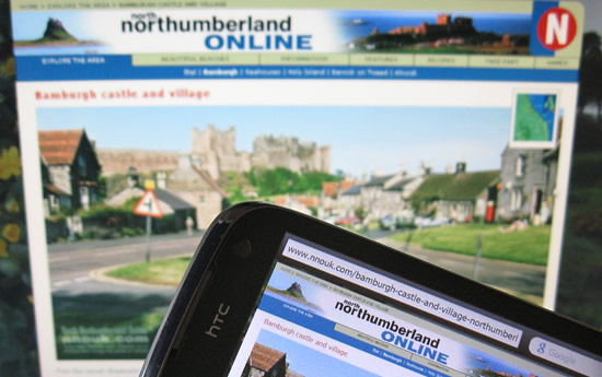 North Northumberland Online on a smartphone