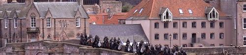 Netflicks shooting a film about Robert the Bruce at Berwick