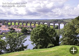 The Royal Border Bridge at Berwick upon Tweed