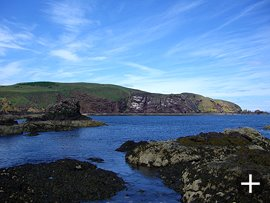 St. Abbs Head from St. Abbs village.
