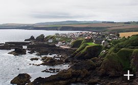 St. Abbs village from St. Abb's Head.